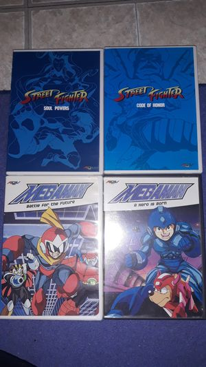 Mega Man and Street Fighter DVDs for Sale in Everett, MA