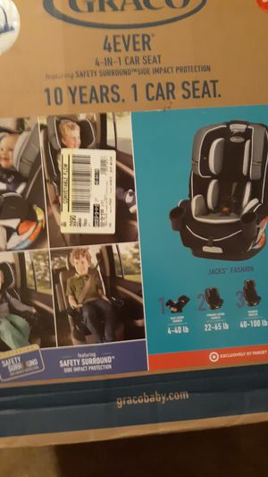 Graco 4Ever All-In-One Convertible Car Seat w/ Safety Surround Jacks Fashion NEW for Sale in Lucas, TX