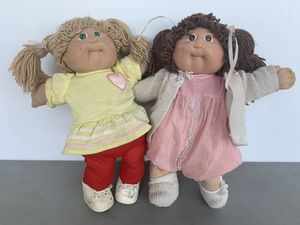 Cabbage Patch Kids Vintage LOT (2) 1983 1984 China Hong Kong Blond Brown Hair for Sale in Seattle, WA