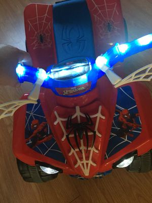 Spider-Man ride on and single bike trailer for Sale in Jackson Township, NJ
