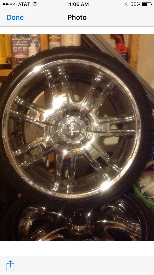 Universal20 inch rims with new tires