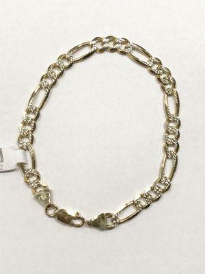 "10K Yellow Gold Unisex Diamond Cut Figaro Bracelet 9"" $474.99 **Great Buy** for Sale in Tampa, FL"