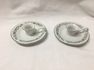 Pair (2) Mikasa Fine China taper candlesticks candle holders green floral flower & leaves G 9059 MONTCLAIR for Sale in El Mirage, AZ