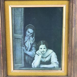"Two Women at a Window 1660's Print Artist Bartolome Murillo Framed 18 1/2"" x 16 1/2"" for Sale in Newport Beach, CA"