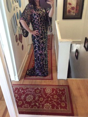 celebrity !!! heavy fully beaded prom pageant dress size 12/14 for Sale in Drexel Hill, PA