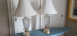 Lamps - pair of crystal lamps for Sale in Reedley, CA