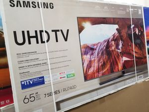 "65"" LED SMART 4K ULTRA HDTV BY SAMSUNG 7 SERIES. 1 YEAR WARRANTY for Sale in Los Angeles, CA"