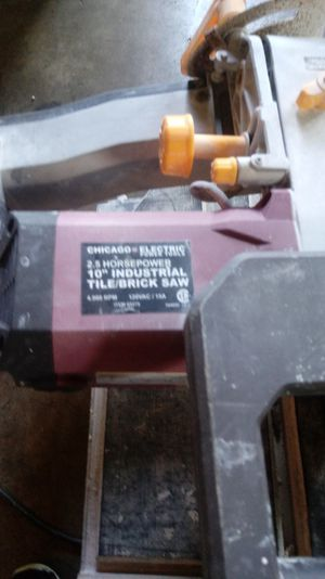 Tile and brick saw for Sale in Gaithersburg, MD