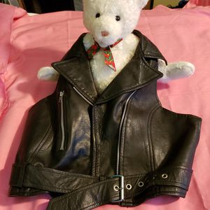 Motorcycle leather Vest for Sale in Endicott, NY