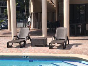 Brand new lounge chairs , sillas de piscina / cama de piscina / outdoor furniture for Sale in Hialeah, FL
