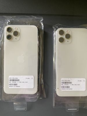Unlocked iPhone 11 Pro and Pro Max 64GB Silver New Amazon returns. Wholesale prices. for Sale in Fort Worth, TX