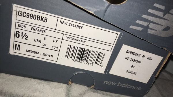 New Balances 990v5 Black/ Grey