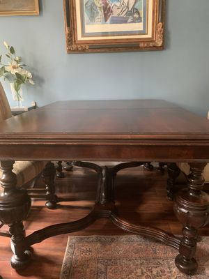 antique table plus 6 chairs for Sale in New York, NY