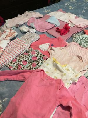 Huge lot girls newborn and up baby clothes with diaper bag and bath mat. Over 160 pcs for Sale in Chesapeake, VA