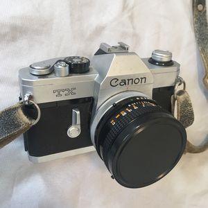 Canon TX 228387 Film Camera With Canon FD 50mm 1:1.8 S.C Lens (Read Description) for Sale in Long Beach, CA