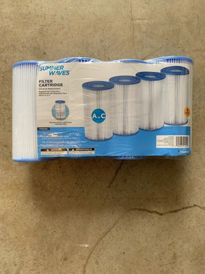 Summer Waves Type A or C Universal Pool Filter Cartridge 4 Pack for Sale in Katy, TX