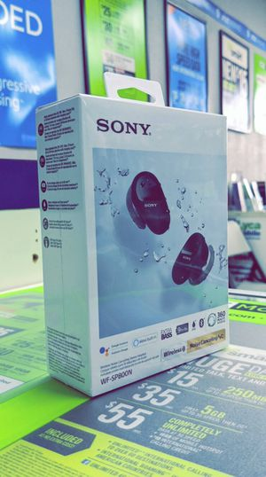Sony - WF-SP800N True Wireless Noise-Cancelling In-Ear Headphones - Brand New in Box for Sale in Arlington, TX