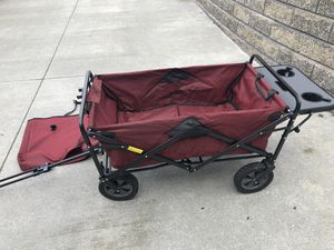 Collapsible wagon with beverage tray for Sale in Chippewa Lake, OH