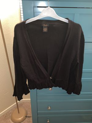 Cropped Black Cardigan for Sale in Las Vegas, NV