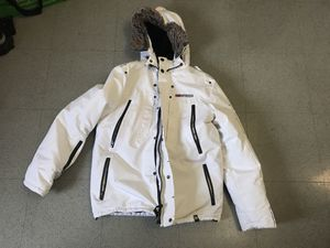 Geographical Norway Expedition White Parka Jacket Size SM for Sale for sale  New York, NY