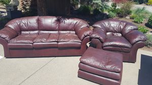 Matching Leather Couch and Chair for Sale in Bend, OR