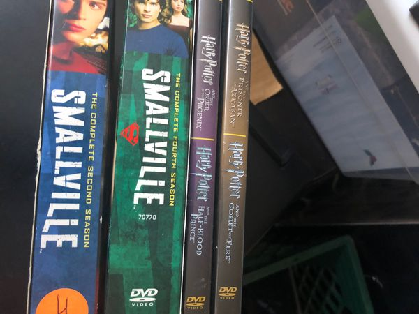 Smallville and Harry Potter DVD's.