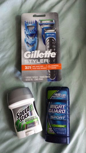 Gillette 3in1 Styler (trim, shave, edge) plus 2 deodorants. All new $20 for Sale in Everett, WA