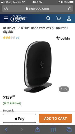 belkin WiFi dual band AC + gigabit router for Sale in Miami, FL
