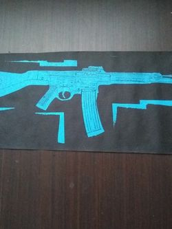 Art, AK-47 Silkscreen On Tar Paper for Sale in Washington,  DC