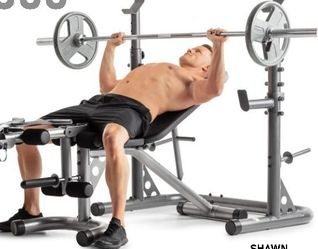 Olympic Weight Bench w/ Squat Rack for Sale in Glendale,  CA