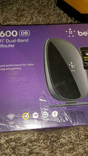 Belkin N600 wi-fi dual band N+ Router for Sale in Houston, TX