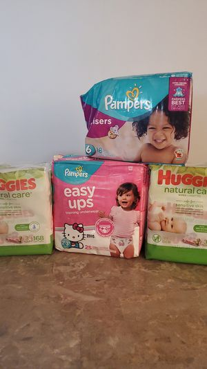 Pampers & baby wipes for Sale in Federal Way, WA