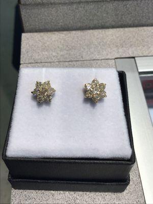 Diamond Flower earrings for Sale in Hanover Park, IL