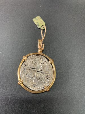 Atocha silver coin pendant in gold bezel for Sale in Show Low, AZ