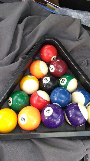 Billiard Balls & Rack Pre-owned for Sale in Lodi, CA