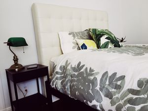 Headboard + Bed Frame + Mattress and Boxspring for Sale in San Francisco, CA