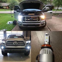 LED Headlights Fog light Leds For Any Car Truck Van for Sale in Fontana,  CA