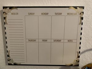 Calendar with cork board for Sale in Winter Haven, FL