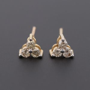 14k yellow gold Champange diamond studs earrings for Sale in West Mifflin, PA