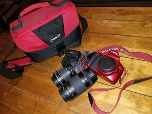 Canon Rebel t6 18mp DSLR w 18-55mm & 75-300mm lenses. for Sale in San Antonio, TX