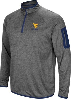 Colosseum Men's West Virginia Mountaineers Grey Indus River Quarter-Zip Shirt XL for Sale in Washington, DC