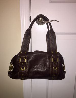 Kenneth Cole – Barrel Shoulder Hobo Pebbled Brown Leather Satchel for Sale in South Brunswick Township, NJ