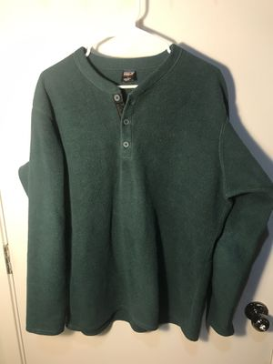 Men's vintage Patagonia fleece Henley long sleeve shirt large l capilene for Sale in Aurora, CO