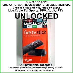 new 4k unlocked fire TV stick with Alexavv for Sale in New York, NY