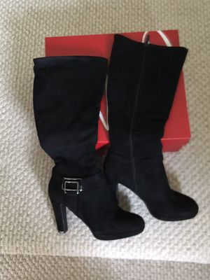 Women's black suede boots shoes 6.5 for Sale in Tampa, FL