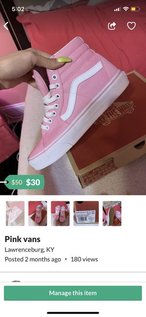 Pink vans for Sale in Lawrenceburg, KY
