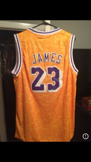 Lebron James bape jersey for Sale in Los Angeles, CA