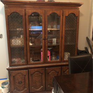 China Cabinet Made Out Of Lake Wood For Sale The Price Is Negotiable for Sale in Philadelphia, PA