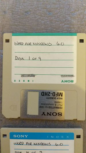 """Word for Windows 6.0 on 3.5"""" disks for Sale in Maricopa, AZ"""