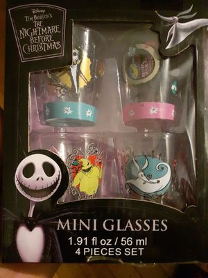 Nightmare before Christmas shot glasses for Sale in New York, NY